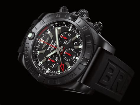 Breitling Black breitling chronomat gmt mechanical travel chronograph