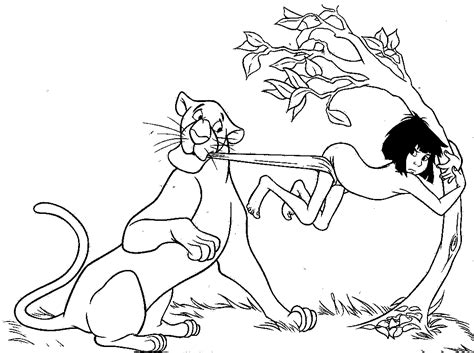 printable coloring pages jungle book free coloring pages of bagheera and mowgli