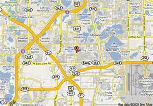 map of safar inn orlando florida mall orlando