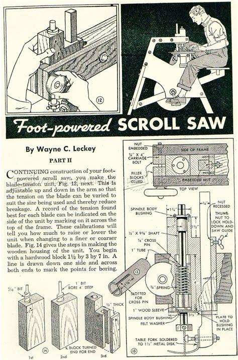 foot treadle scroll plan woodarchivist