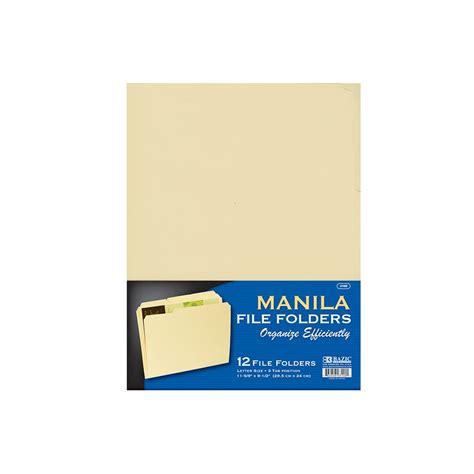 lettere units 48 units of 1 3 cut letter size manila file folder 12