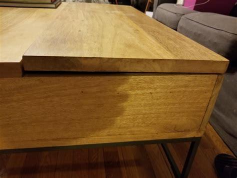 repair  lift top coffee table hinge  closes
