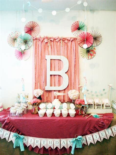 95 1st birthday party decoration ideas for girls at home birthday vintage chic 1st birthday party via kara s party ideas