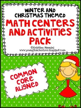 christmas math centers first grade and winter themed math centers and activities common aligned