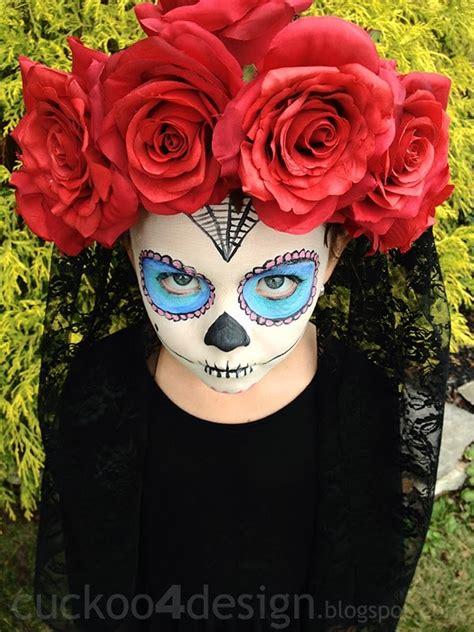 easy sugar skull halloween costume cuckoodesign