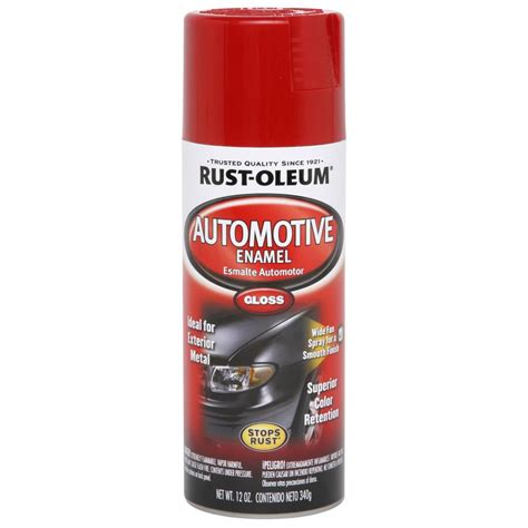 gloss paint shop rust oleum 12 oz red high gloss spray paint at lowes com