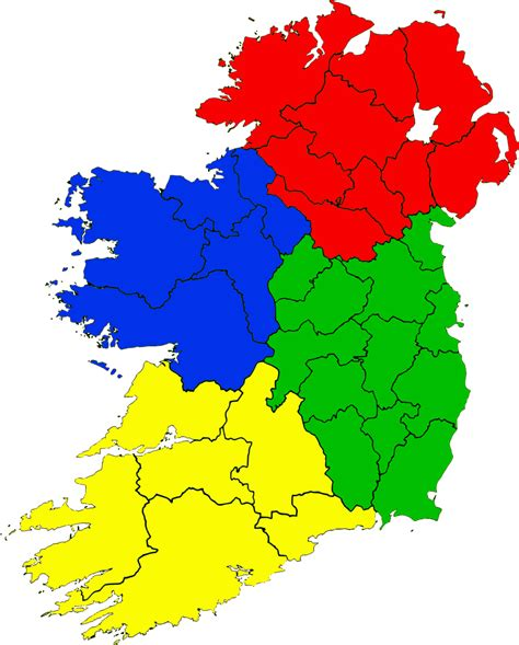 province map provinces of ireland