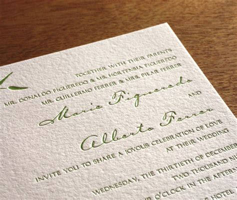 Bamboo Paper Wedding Invitations by Your Wedding Invitation Paper Choices Letterpress