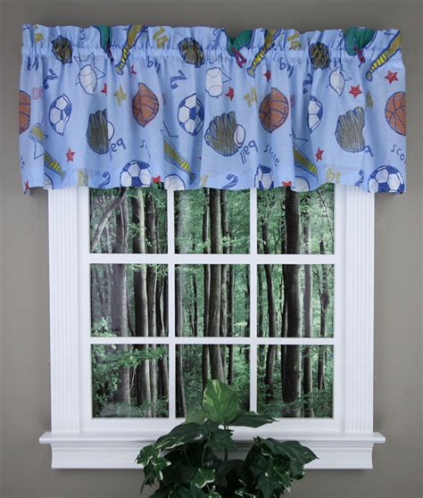 sports curtains sports tailored valance football baseball basketball