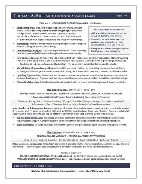 Winning Resume Template by Winning Sales Resume Exles Resume Sle For A Sales Executive Award Winning Resume