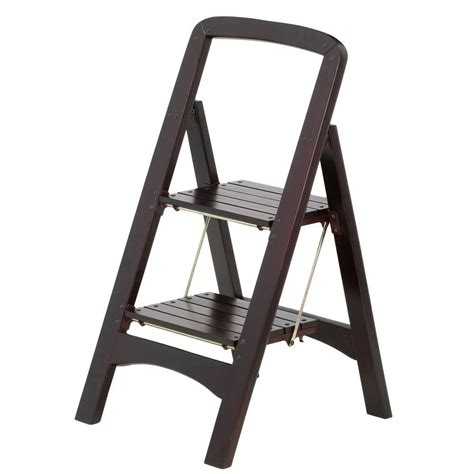 Step Stool Ladder by Cosco Rockford Series 2 Step Mahogany Step Stool Ladder
