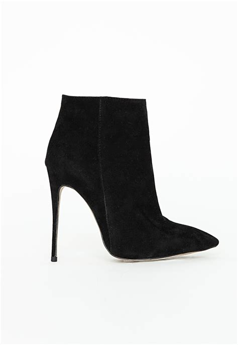 faux suede stiletto heel ankle boots high heels shoes