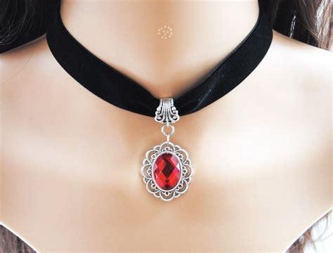 Pendant Choker classic pendant black velvet ribbon choker necklace