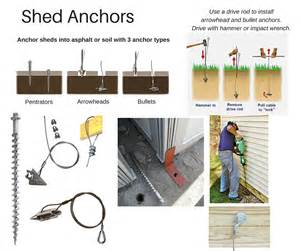how to anchor a shed options for shed anchors
