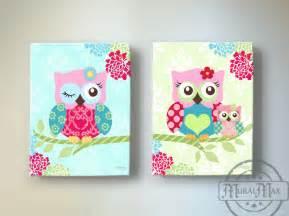 Nursery Owls Decor Owl Nursery Decor Owl Canvas Baby Nursery Owl