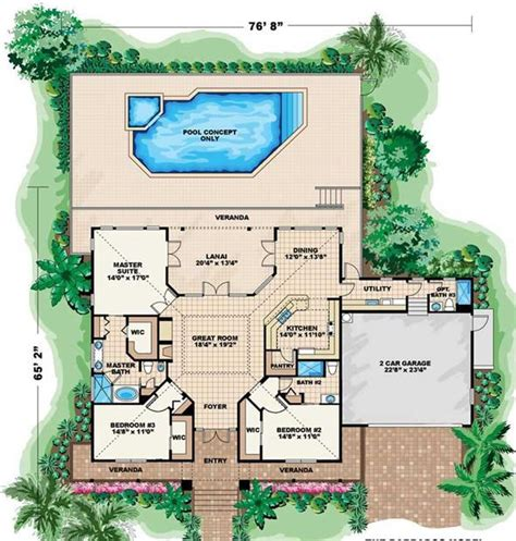 house plans with outdoor living one story house plans with outdoor living cottage house
