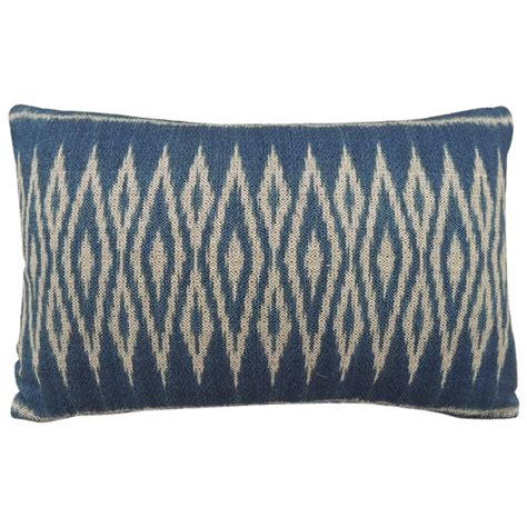 Blue Bolster Pillow by Vintage Blue Ikat Bolster Pillow At 1stdibs