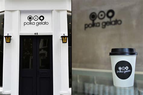 polka gelato store identity design branding  vonsung
