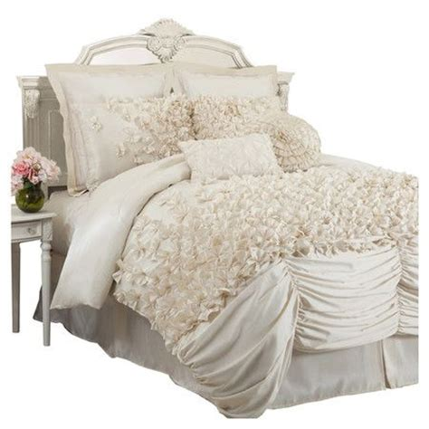 faux silk comforter four piece faux silk comforter set in ivory with ruffled