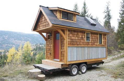 tiny home on trailer small house design with eye catching color game tiny