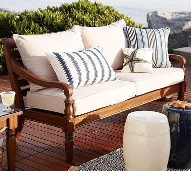pottery barn outdoor sofa faraday outdoor sofa from pottery barn patio yard