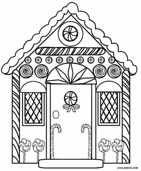 Printable Gingerbread House Coloring Pages Az Coloring Pages Simple Gingerbread House Coloring Page