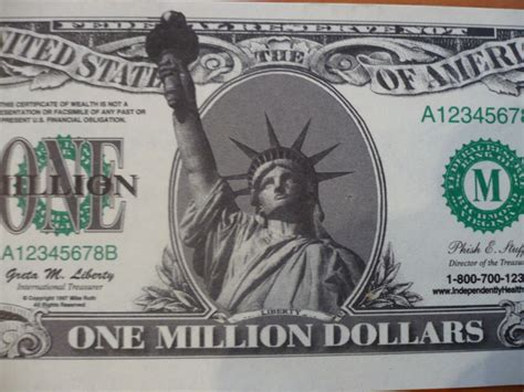 How To Make Paper Money That Looks Real - 100 new one million dollar bills 1 000 000 liberty