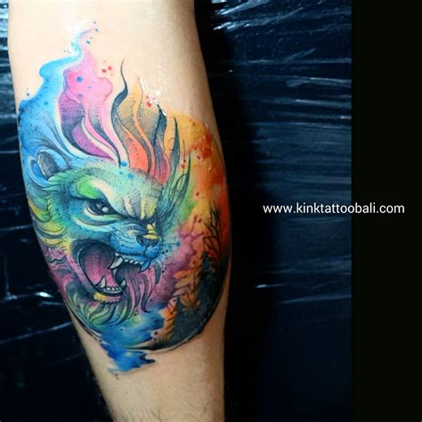 colored tattoos color bali