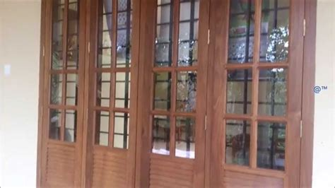 home windows design in kerala 2 and 3 panel wooden window design youtube