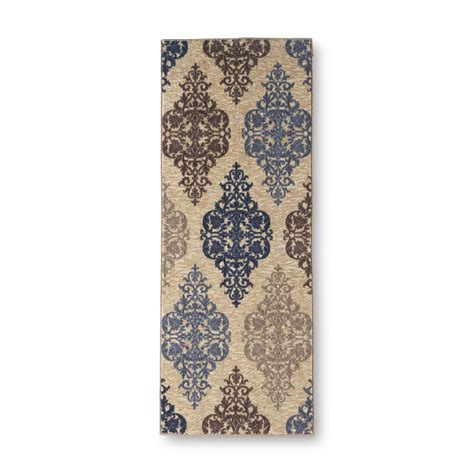 Damask Runner Rug Essential Home Gallery Damask Runner Accent Rug 22 X 60