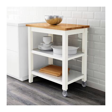 Kitchen Trolleys And Islands by Stenstorp Kitchen Trolley White Oak 79x51x90 Cm Ikea