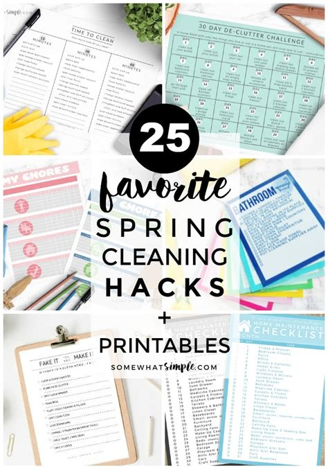spring cleaning hacks spring cleaning hacks the best cleaning printables