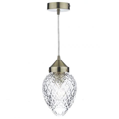 Decorative Ceiling Pendant - antique brass decorative glass ceiling pendant lighting