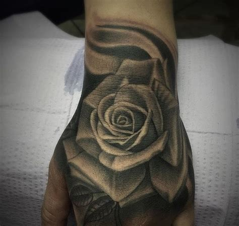 black and gray rose tattoo meaning custom black and grey by salvador diaz at