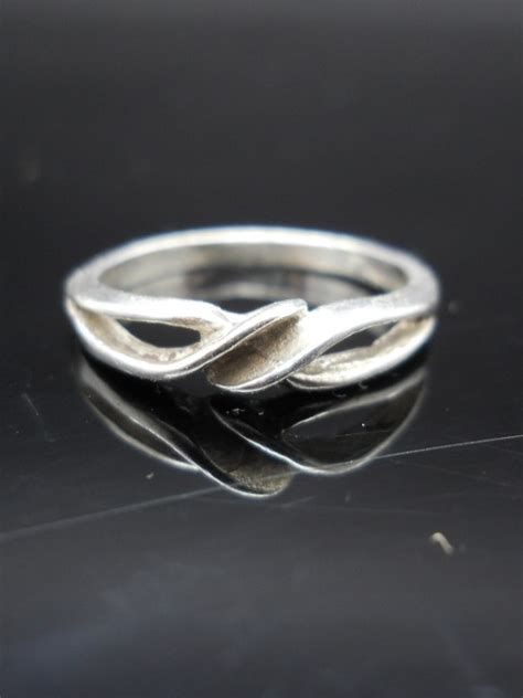 small twist ring sterling silver size 6 5 vintage 925