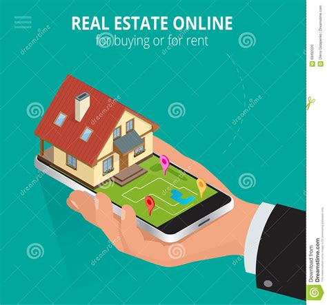 buy a house online real estate buy online stock illustration cartoondealer com 83297965