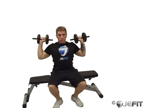 seated dumbbell bench press dumbbell one arm seated shoulder press exercise database