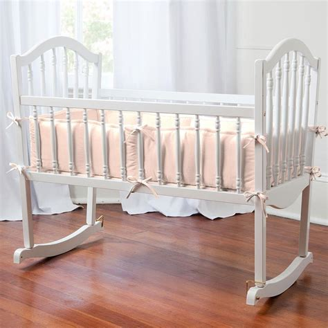 peach baby bedding solid peach cradle bedding carousel designs