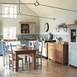 good Small Kitchen Colour Ideas #1: Colour-block-freestanding-kitchen-from-Fired-Earth.jpg