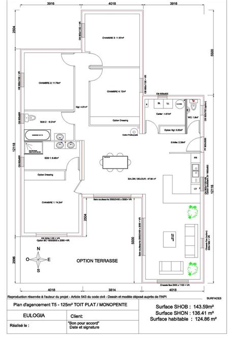 Plan Maison Plain Pied 50m2 Maison Ossature Bois Projet 17 best ideas about plan maison plain pied on