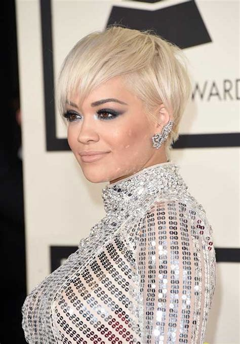rita oras new short haircut from the 2015 grammy awards lipstick short pixie haircuts for women 2014 2015 short