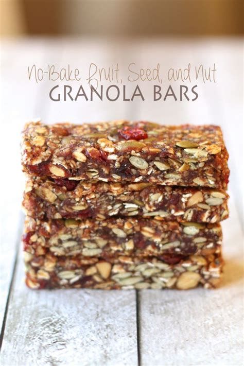 Detox Granola Bars by Fruit And Seed Granola Bars Recipe Dried Cranberries