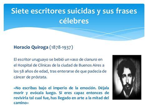 imagenes figurativas y sus autores siete escritores suicidas y sus frases c 233 lebres