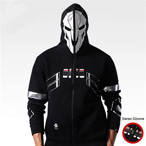 Hoodie Zipper Dominator Gaming overwatch reaper hoodies mens zip up ow sweatshirts wishining