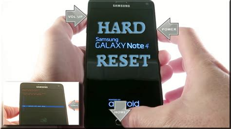 reset samsung note samsung galaxy note 4 hard reset factory reset youtube