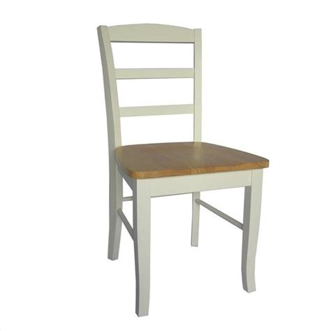 ladderback dining chair in white and finish set