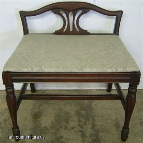 antique vanity bench antique mahogany vanity bench at antique furniture us