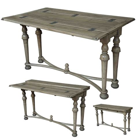 Driftwood Console Table Driftwood Finish Walnut And Brass Folding Console Table