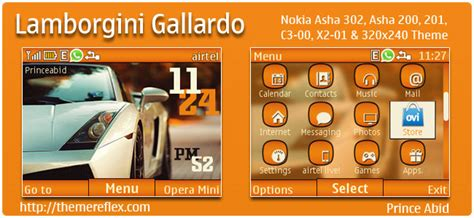 themes nokia x2 01 by princeabid lamborgini gallardo theme for nokia c3 x2 01 asha 200