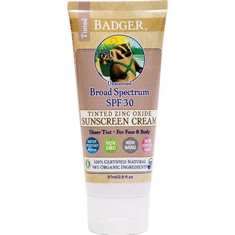 Badger Zinc Oxide Tinted Sunscreen Sz badger tinted sunscreen spf 30 2 9oz unscented